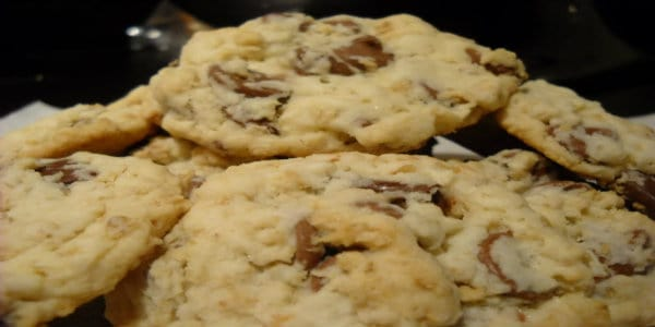 Chocolate Chip Oatmeal Shortbread Cookies