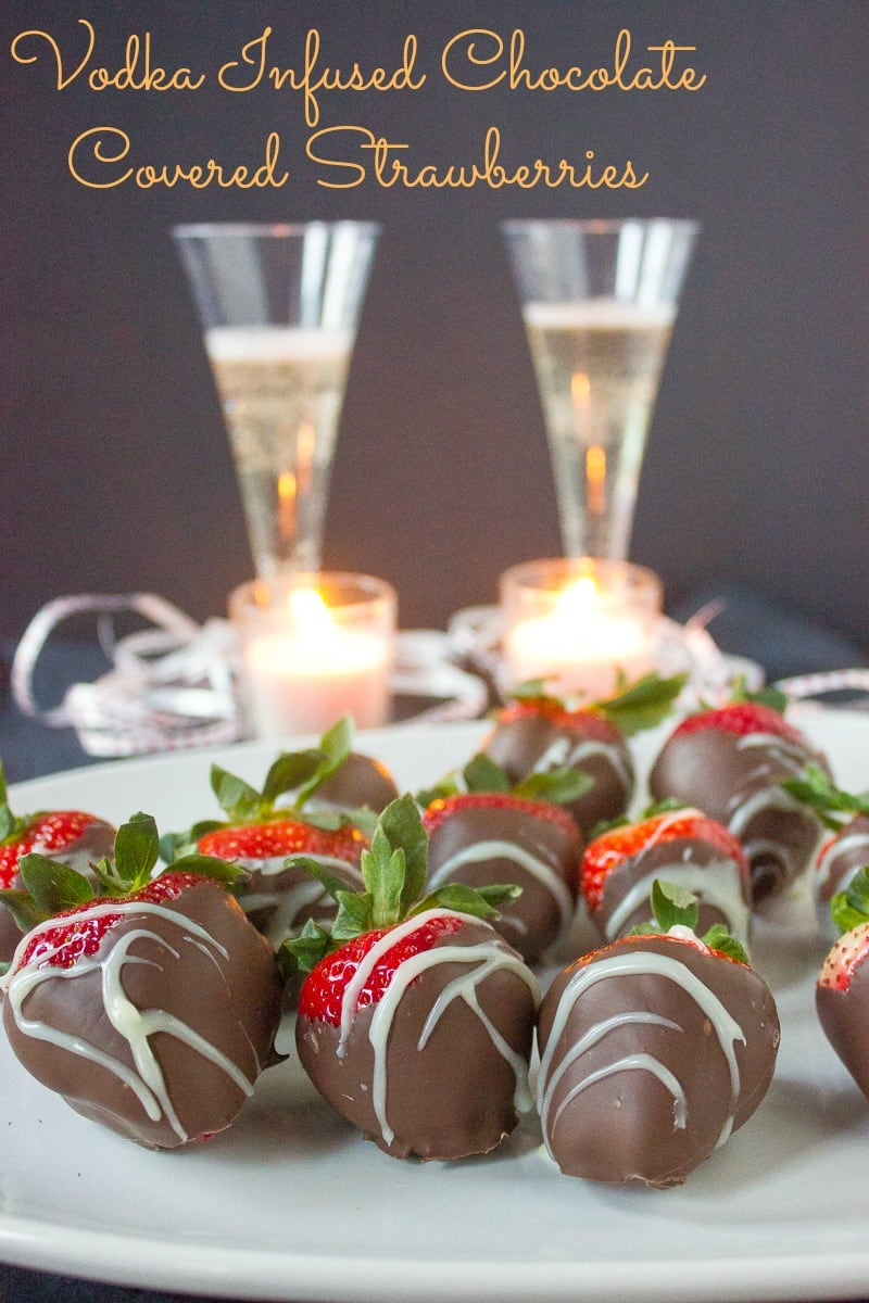 Chocolate Covered Strawberries with Vodka Infused