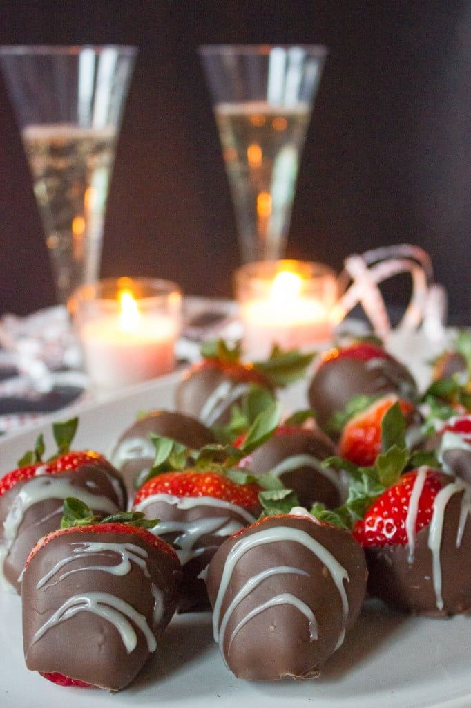Vodka Infused Chocolate Covered Strawberries