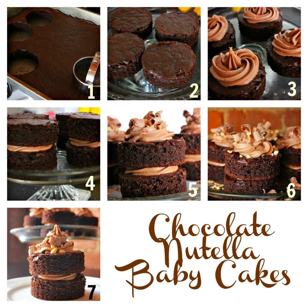 Chocolate Nutella Baby Cakes