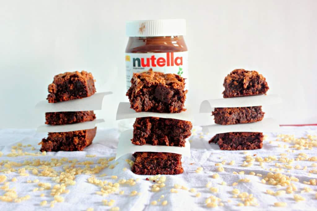 Crispy Nutella Brownies