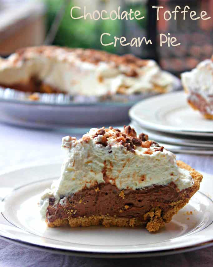 Chocolate Toffee Cream Pie