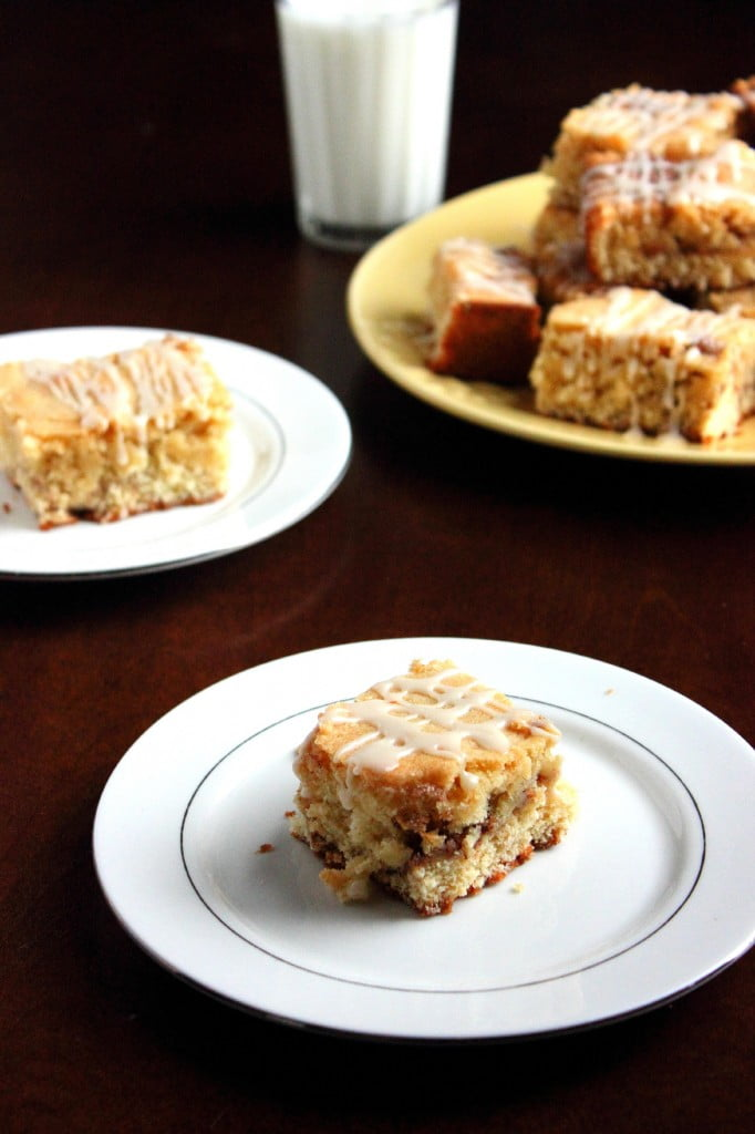 Snickerdoodle Bars on a plate