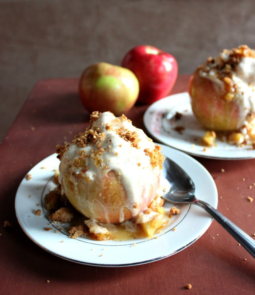 Baked Apple Ice Cream Bowls - Brown Sugar