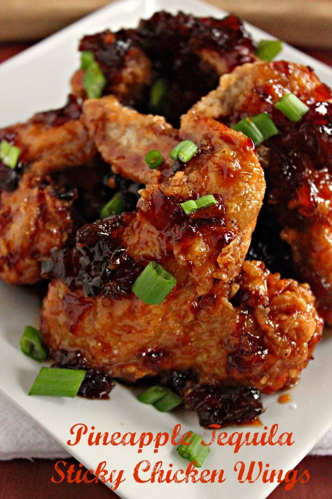Pineapple Tequila Sticky Wings