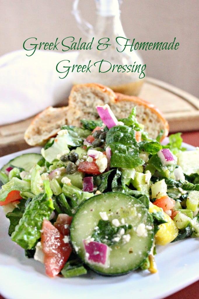 Greek Salad with Greek Salad Dressing