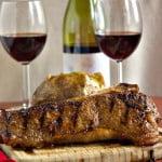 New York Strip Steak on a cutting board