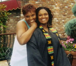 In this picture, with my mommy, I was extremely happy. Happy to be done with college.