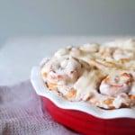 Apple Pie Cinnamon Rolls in a dish