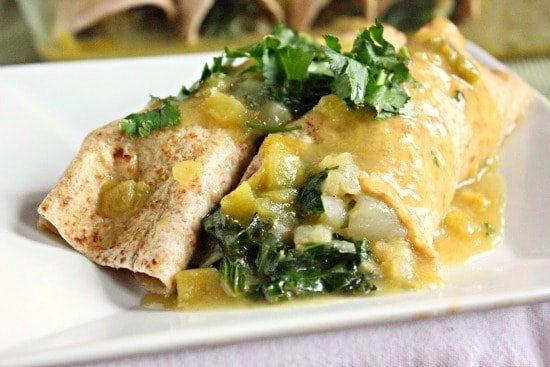 Potato and Kale Enchiladas