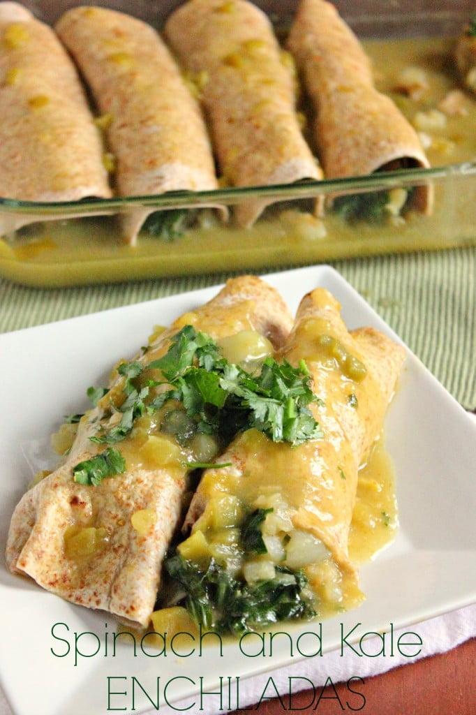 Potato and Kale Vegan Enchiladas