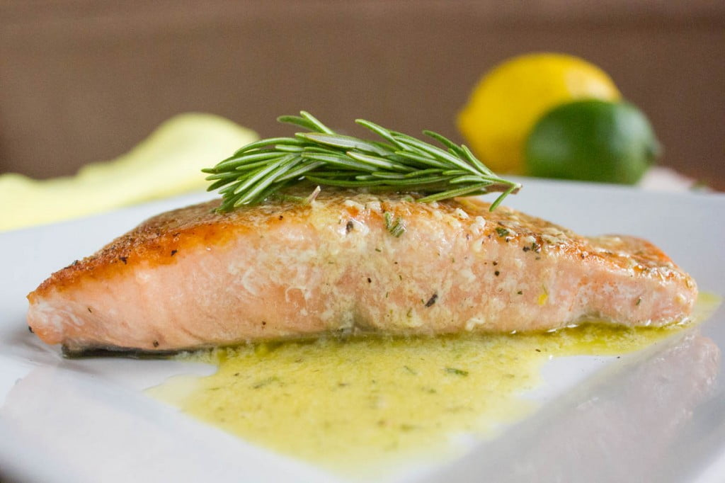 Pan Seared Salmon with Citrus Sauce - Brown Sugar