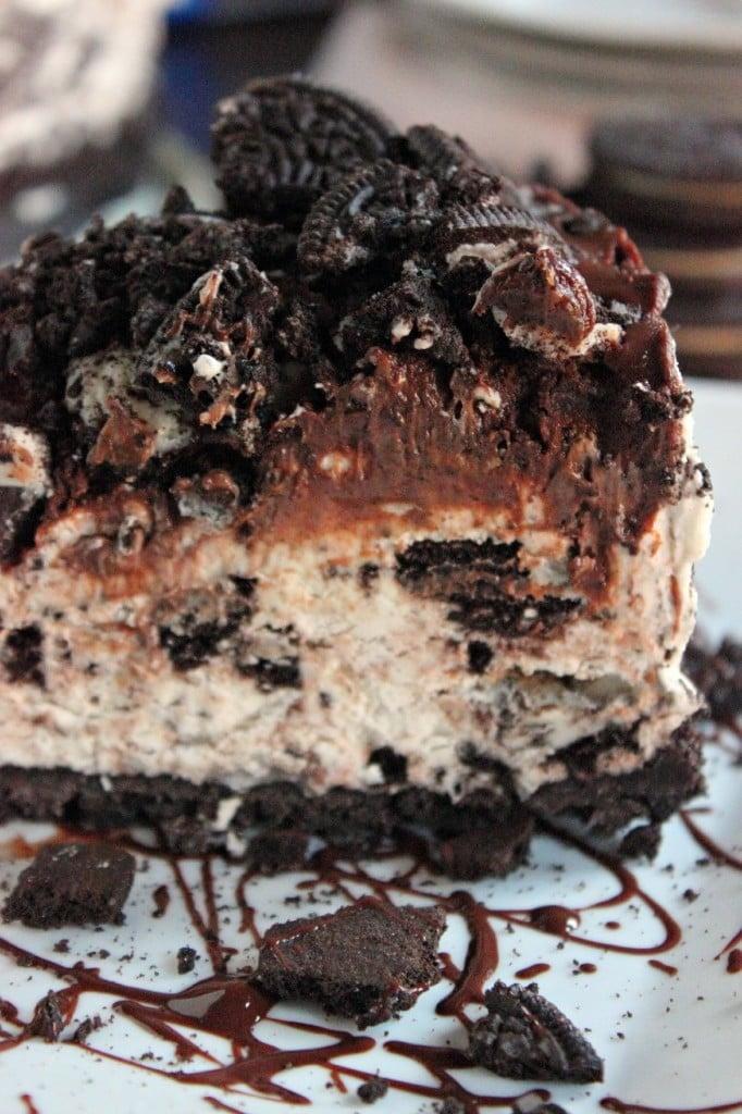 Non Bake Oreo Cookie Cheesecake