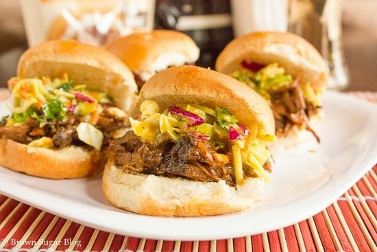 Campbell's Soups Sweet Korean Beef Sliders with Asian Slaw