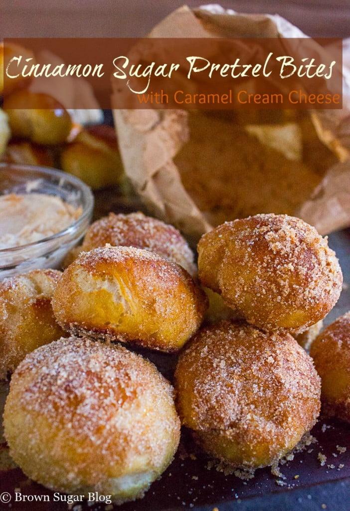 Baked Pretzel Cinnamon Sugar Bites