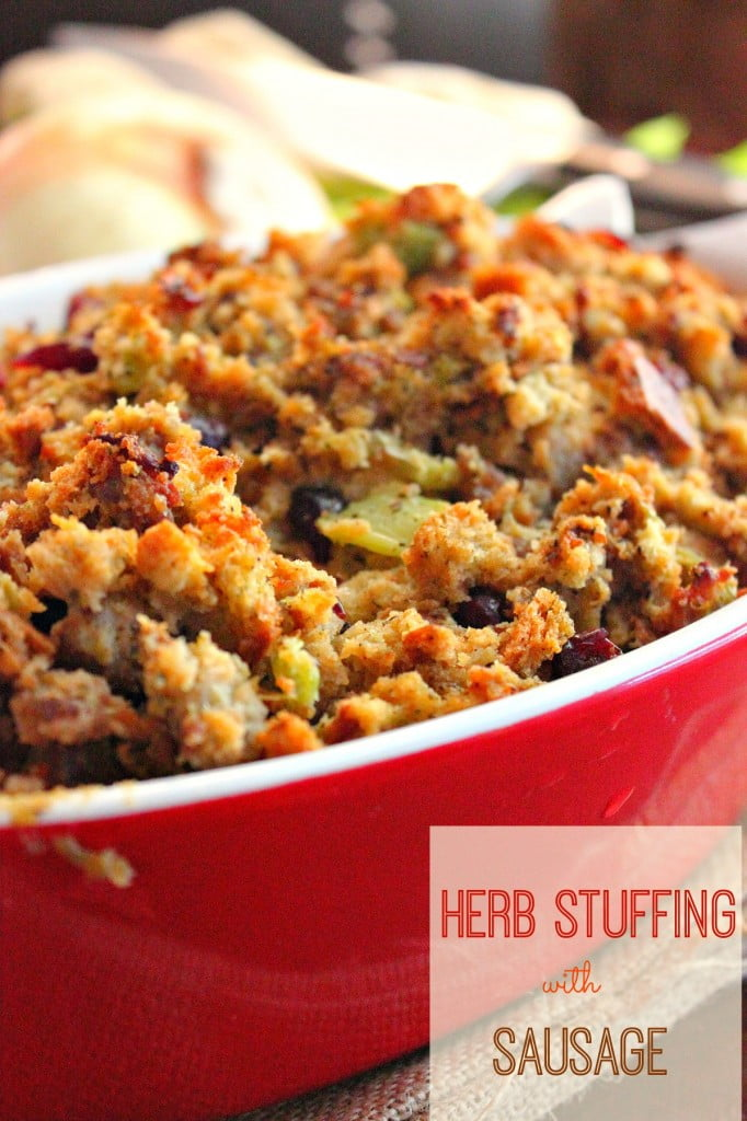 Herb Stuffing with Sausage