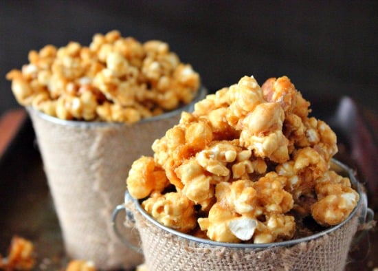 bowl with butter toffee popcorn