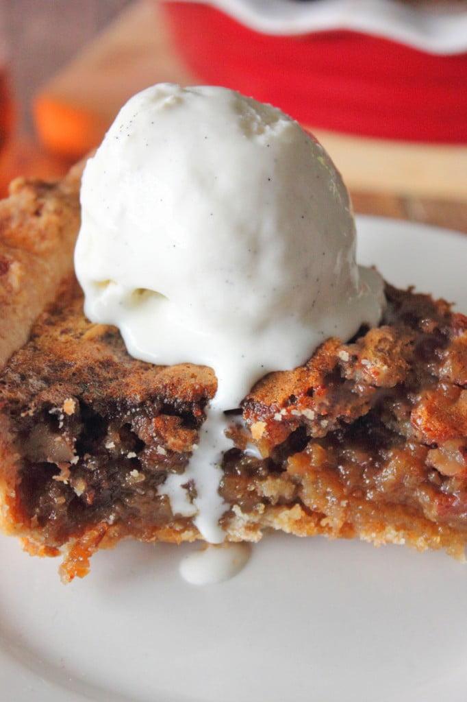 Bourbon Bacon Pecan Pie - Brown Sugar