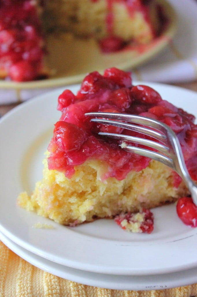 Cherry Pineapple Upside Down Cake