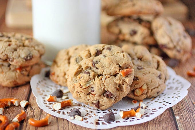Brown Butter Chocolate Chip & Pretzel Cookies