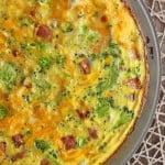 Broccoli Cheddar Ham Frittata