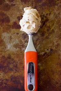 Salted Caramel & Almond Ice Cream made without a machine!