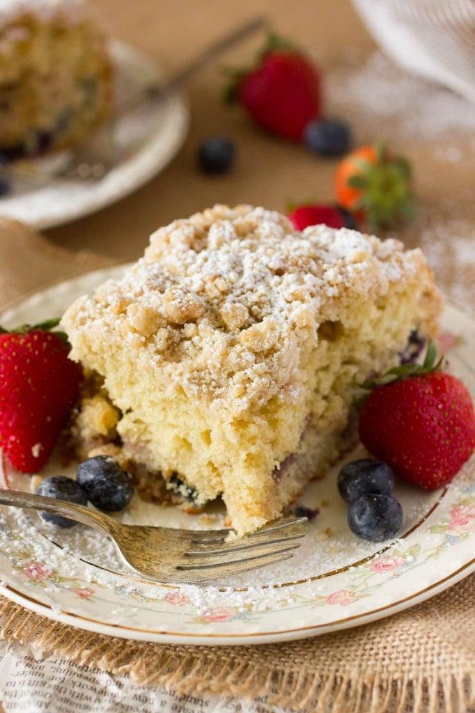 Mixed Berry Coffee Cake Recipe