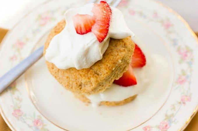 Healthy Strawberry Shortcakes