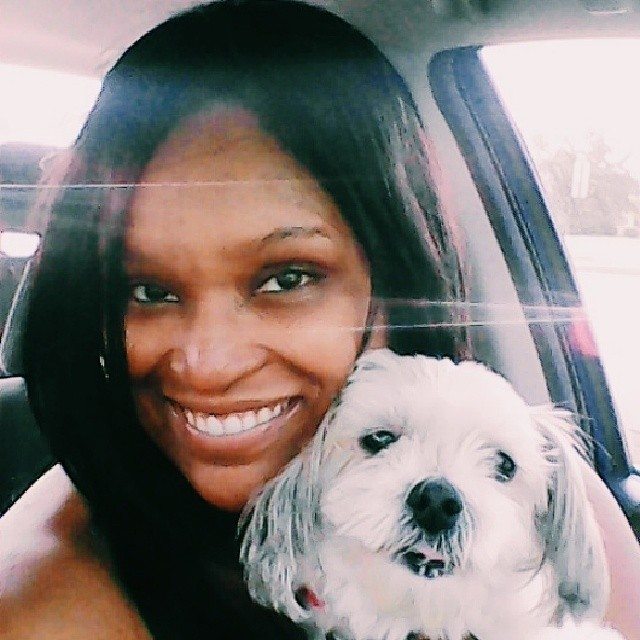 A selfie with me and my dog Baby. #selfies #selfie #doglover #tagstagram #ilovemydog