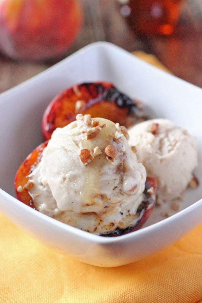 Honey Drizzled Grilled Peaches Recipe