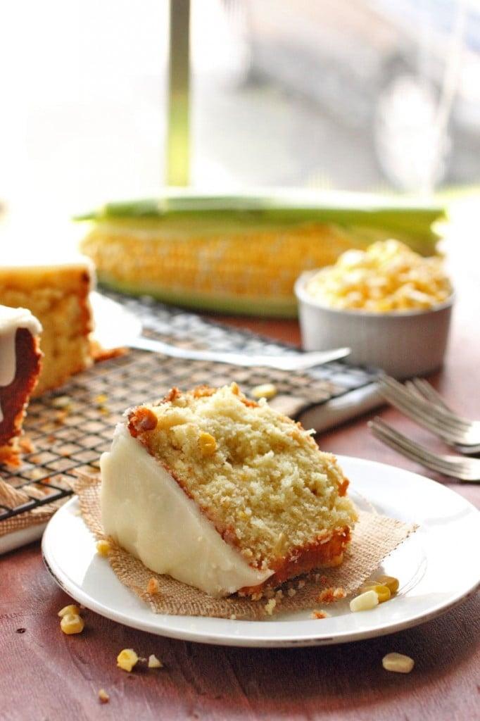 Sweet Corn and Hot Butter Glaze Cake