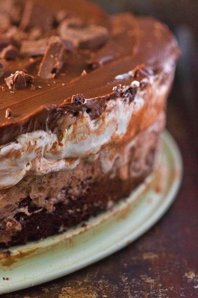 Mississippi Mud Pie Ice Cream Cake