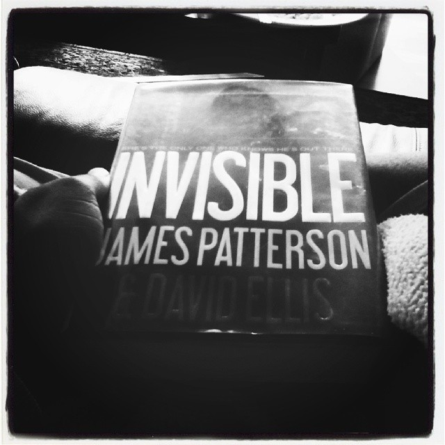 Back on my book reading grind. Reading Invisible by James Patterson. #book #books #bookclub #goodbook #r&r #vacation #goodreads