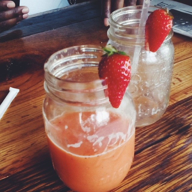 Strawberry Orange Juice at Crocketts Breakfast Camp in Gatlinburg. Amazing breakfast food! #breakfast #foodie #Gatlinburg  #travel