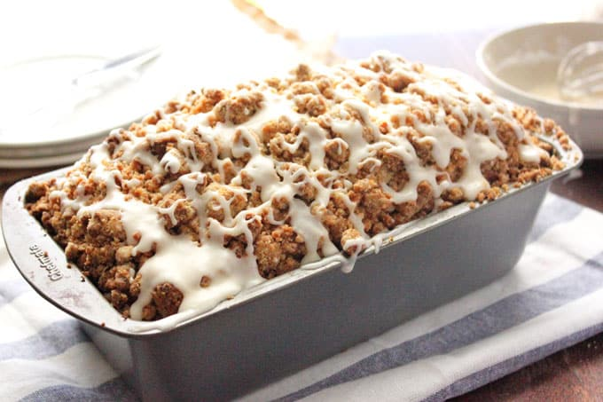 Zucchini Bread with Crumb Topping