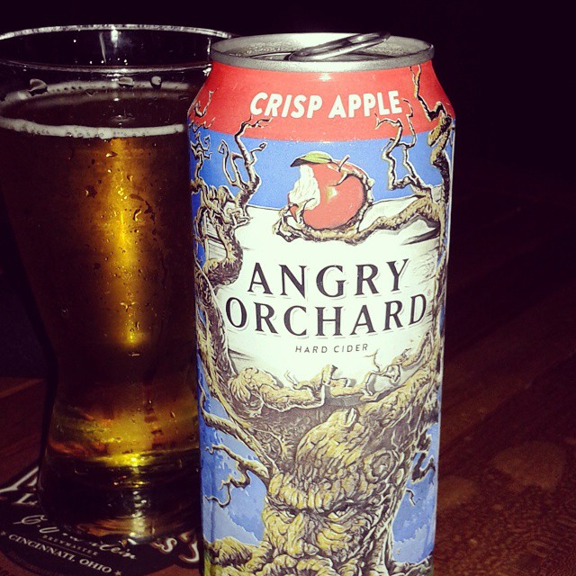 One of my most favorite things.  #beer #angryorchard #datenight