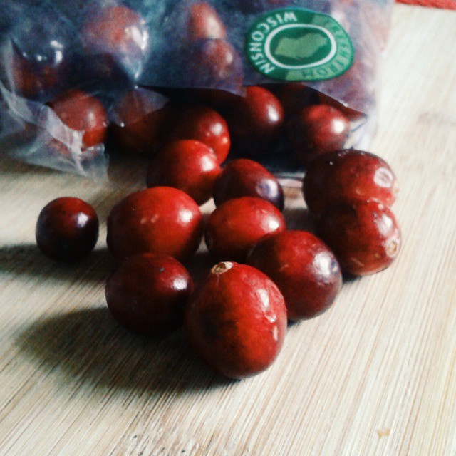 What to do with these cranberries? I'm thinking something sweet and savory. #vscocam #cranberries #fblogger #foodie #like4alike #instafood #instadaily #experiment #recipe
