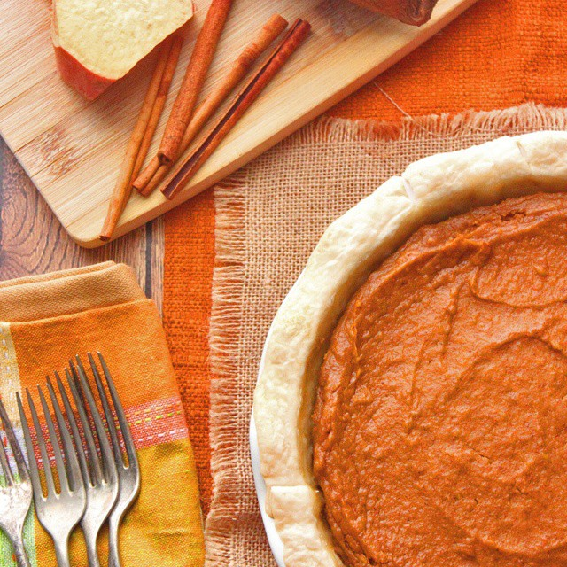 So underrated but very appreciated.  Classic Sweet Potato Pie.  Link in the profile.  #pie #sweetpotatopie #thanksgiving #ontheblognow #ontheblog #omg #nomnom #yummy #getinmybelly #desserts #sweets #foodphotography #foodie #foodblogger #foodgasm #foodporn #food #desserts #instafood #instadaily #yummypics #yum #recipe