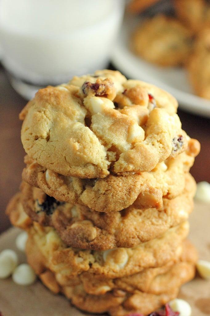 White Chocolate Macadamia Nut Cranberry Cookies