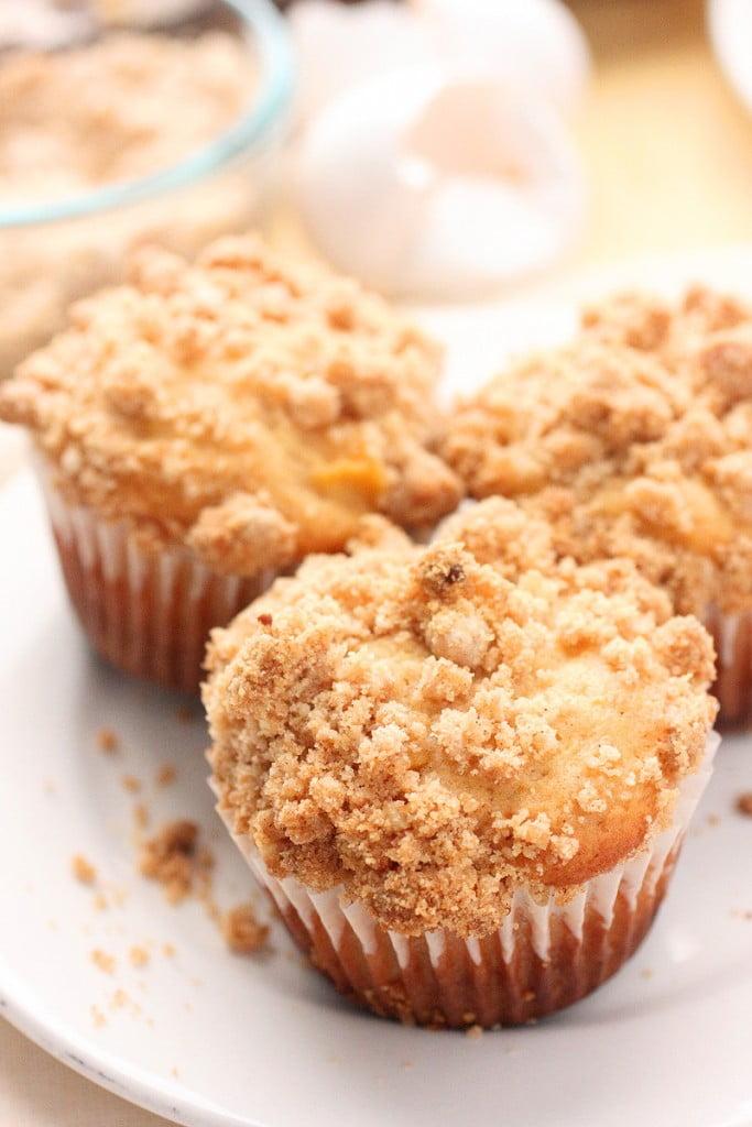 Peach Crumbs Muffins