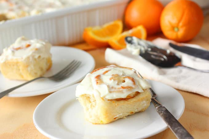 Sweet Orange and Cream Cheese Sweet Rolls