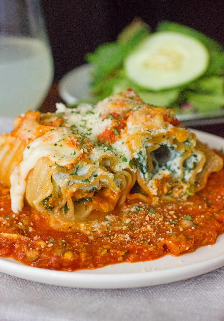 Skinny Lasagna Rolls