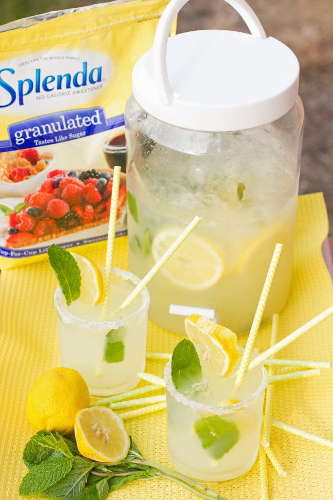 Lemon Mint 'Mock Margaritas': Enjoy a cool and refreshing Lemon Mint 'Mock Margaritas' by swapping the sugar for SPLENDA!