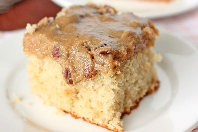 Bourbon Butter Pecan Sheet Cake