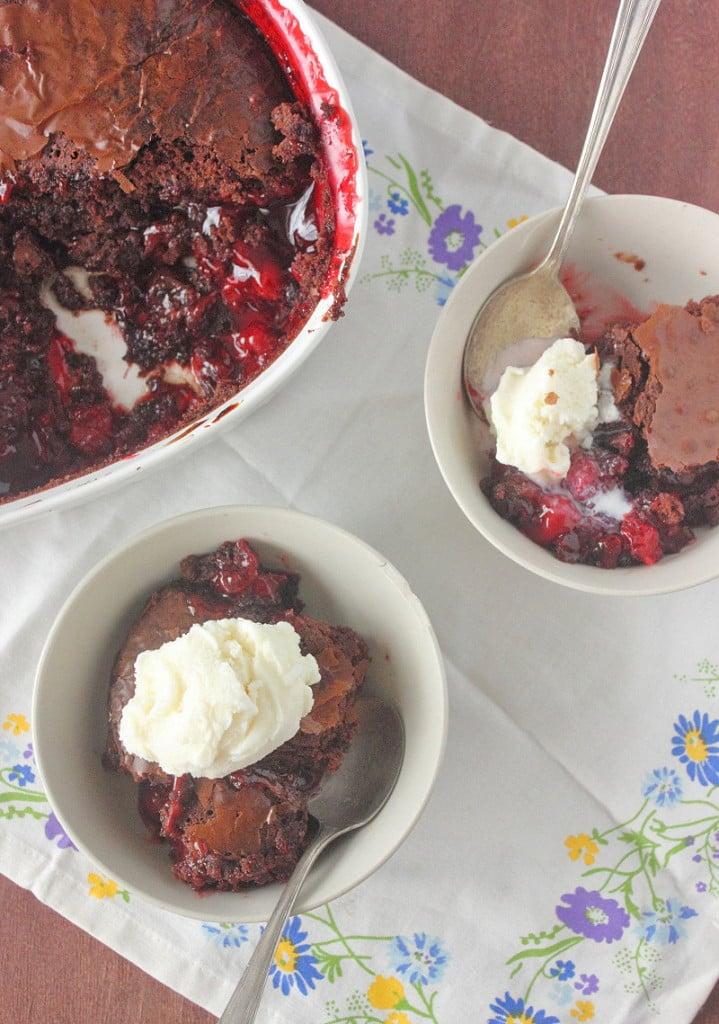 Brownie Cherry Cobbler Recipe