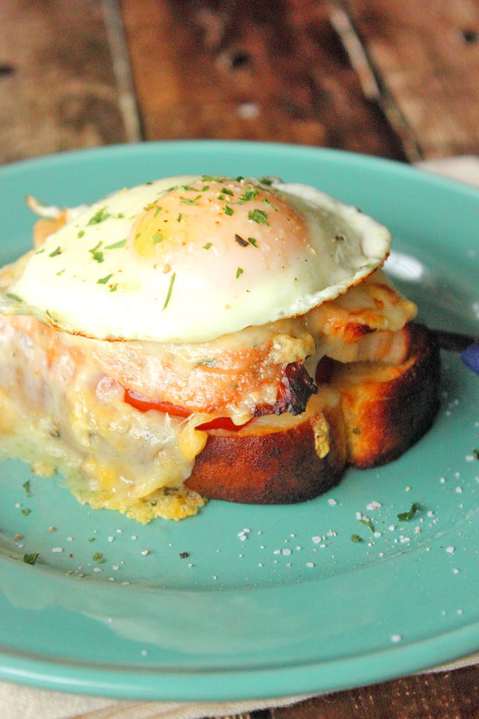 Croque Monsier with Roasted Turkey