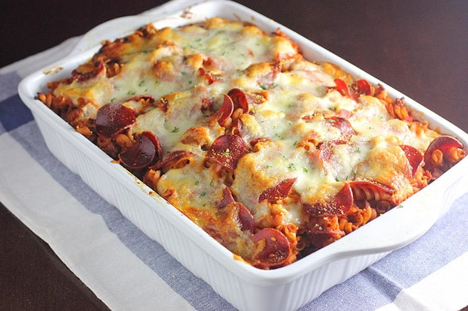 Pizza Pasta Bake Recipe