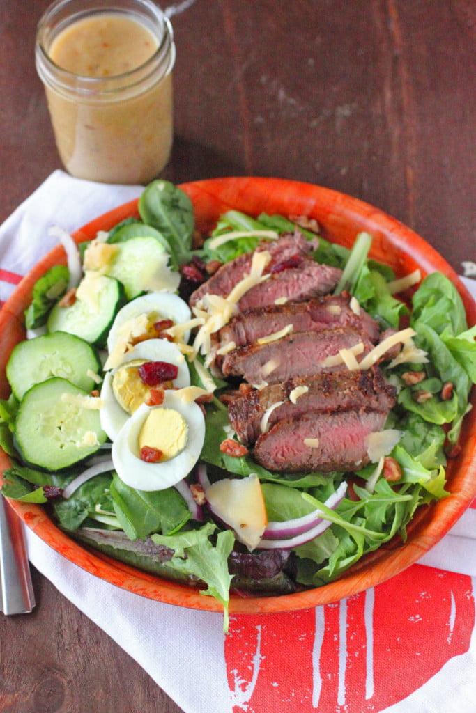 Steak Salad Recipe with Vidalia Onion Dressing