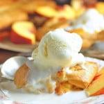 Open Face Peach Pies