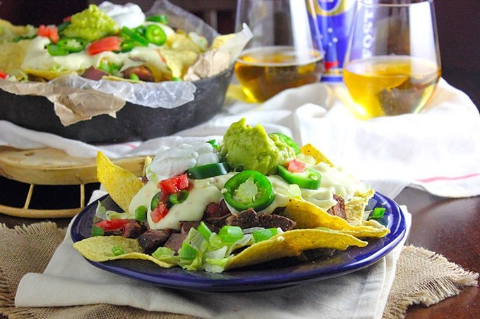 Nacho Recipe with Steak and Beer Cheese
